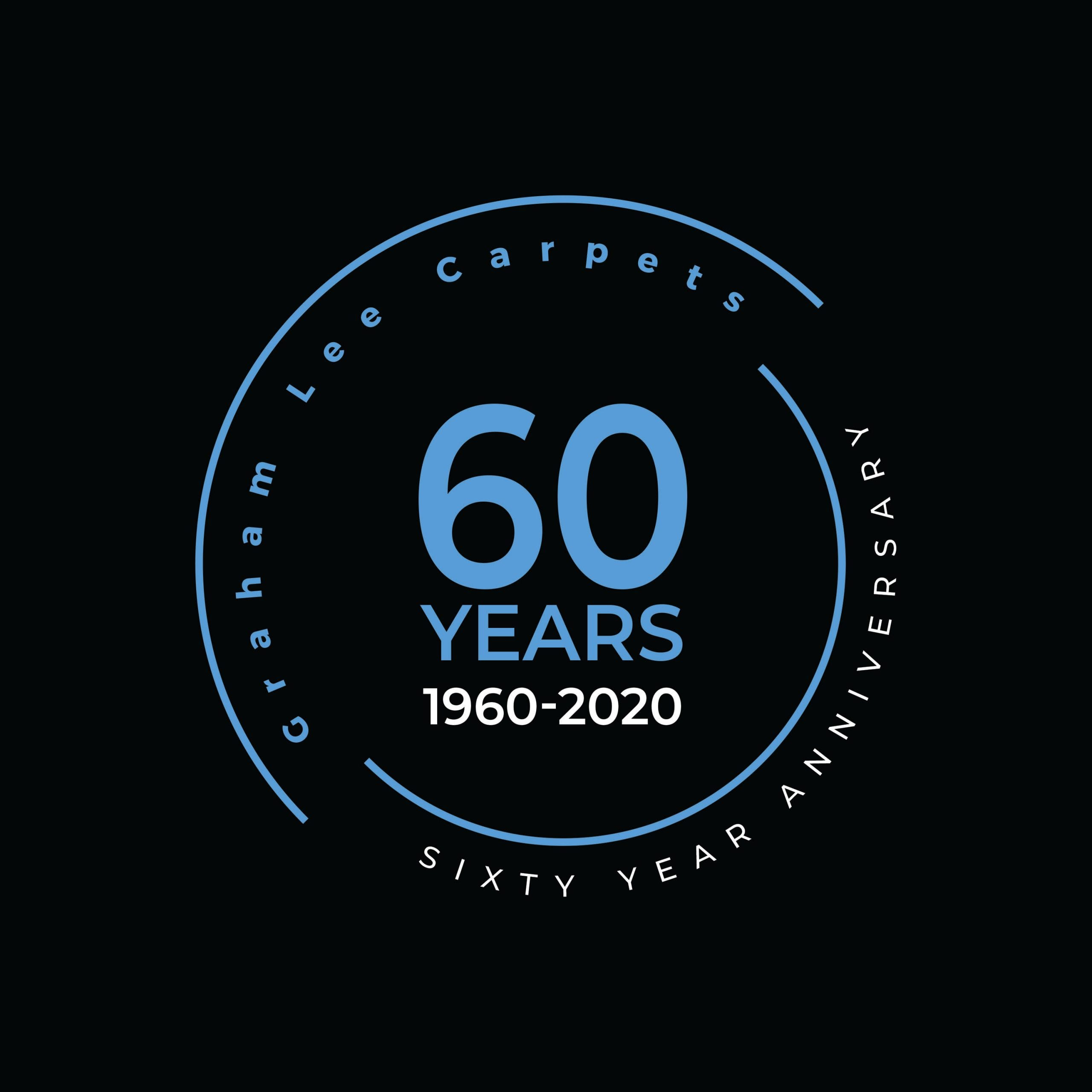 Graham Lee Carpets - 60 Year Anniversary Logo